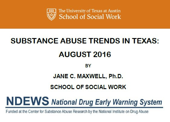 Texas Drug Trends 2016